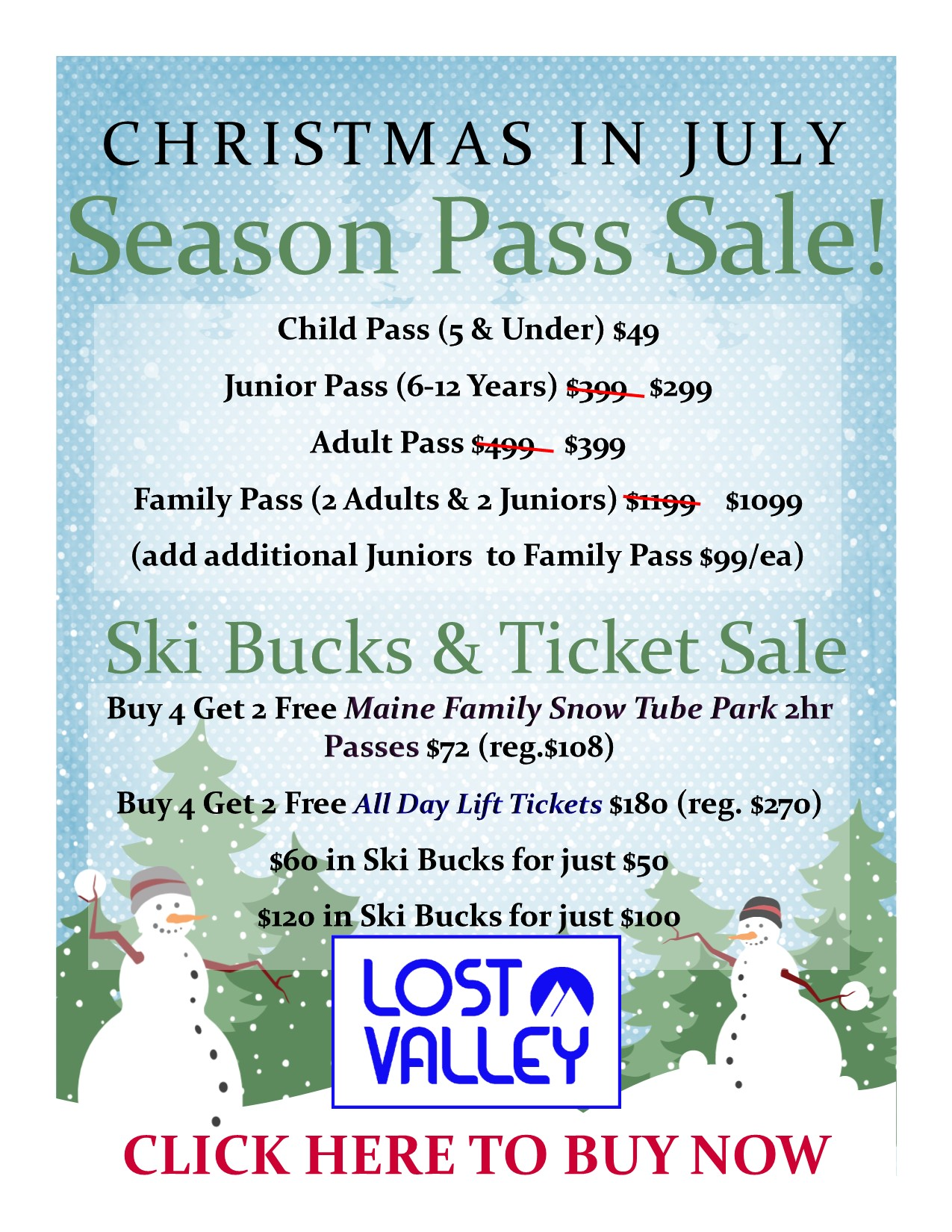 lost valley maine seasons pass online